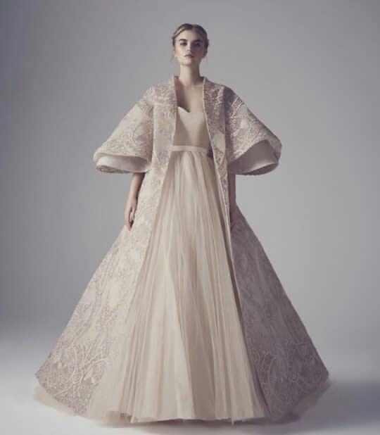 شنل آستین دار عروس