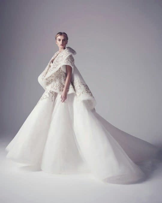 شنل آستین کوتاه خاص برای عروس