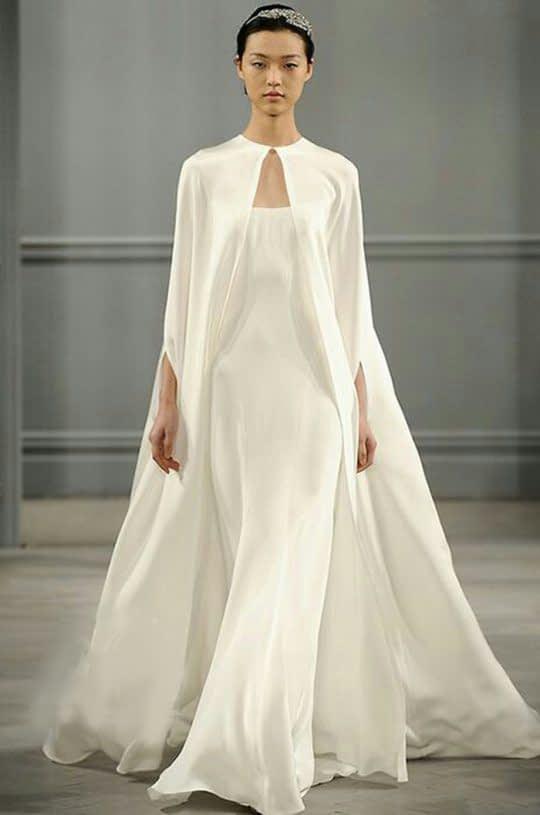 شنل حریر بلند عروس