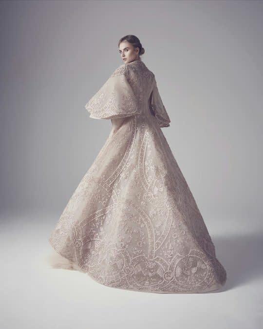 شنل عروس آستین دار بلند