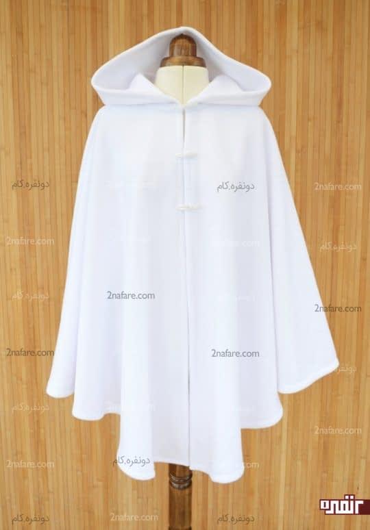 شنل عروس سفید و ساده