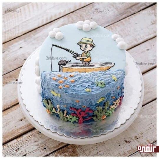طراحی زیبا و جذاب کیک تولد پسرونه