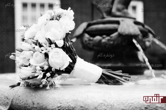 عکس سیاه سفید عروسی