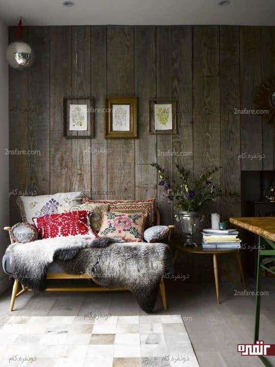 فضای جذاب و منحصر به فرد با کاربرد چوب در خانه