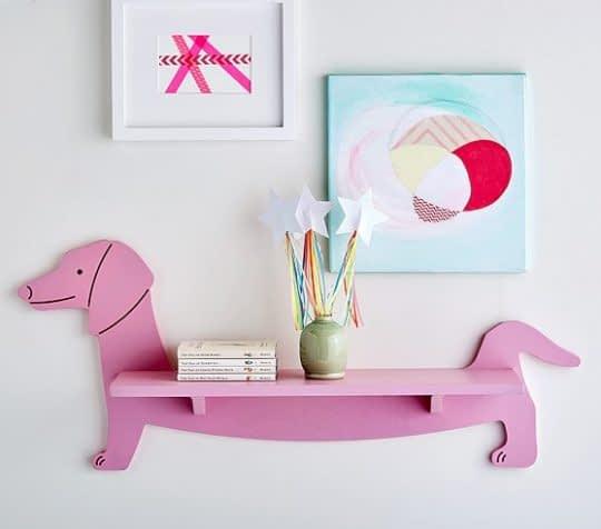قفسه ای رنگی و زیبا با طرح سگ