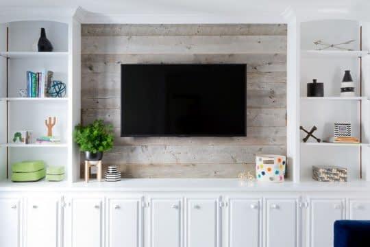 قفسه بندی اطراف تلویزیون