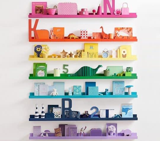 قفسه های رنگارنگ و زیبا برای اتاق کودک