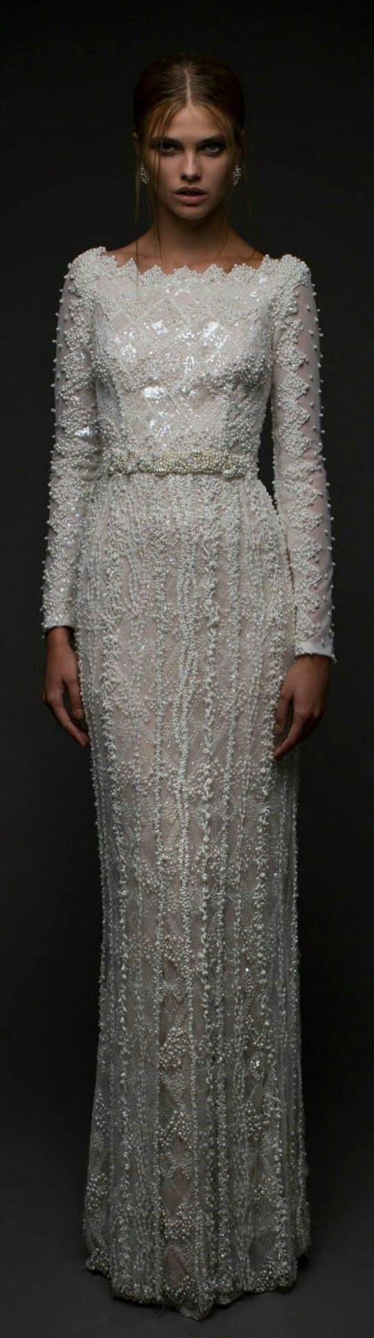 لباس عروس راسته آستین بلند