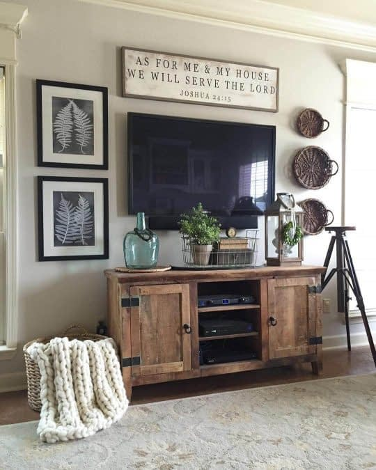 لوازم تزیینی و زیبا برای دکوراسیون دیوار پشت تلویزیون