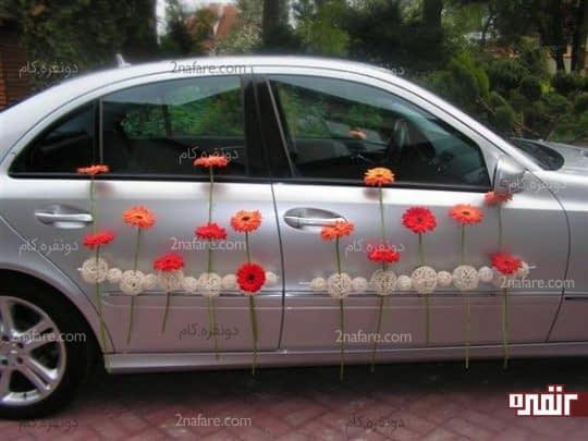 ماشین عروس خاص با طرحی متفاوت