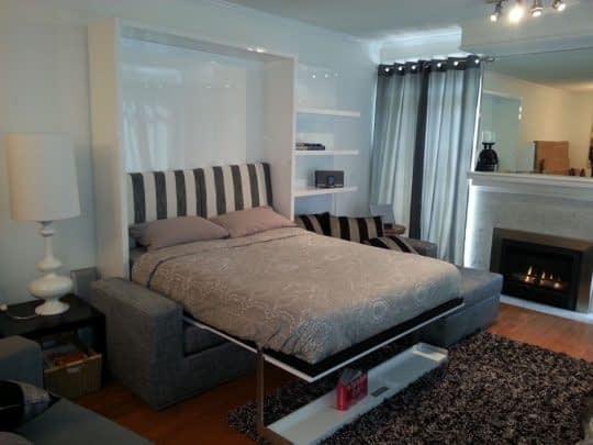 مبل های تخت خواب شو در خانه های کوچک برای صرفه جویی در فضا