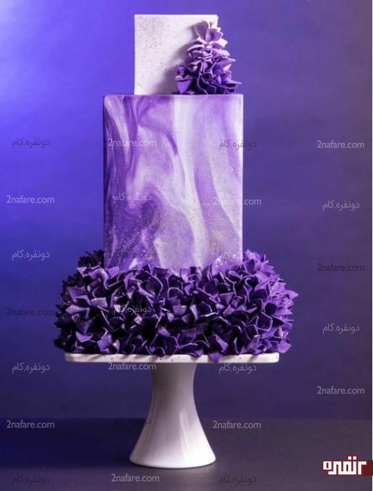 مدل زیبا و متنوع از کیک عروسی بنفش