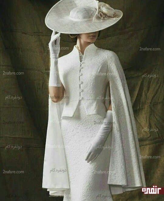 مدل شنل عروس کوتاه و زیبا