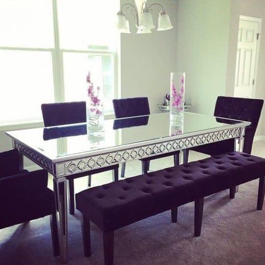 میز غذاخوری شیک و مدرن بنفش