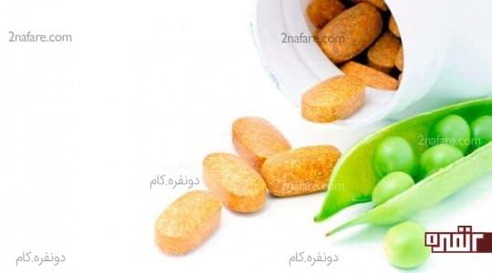 ویتامین ها در نخود سبز