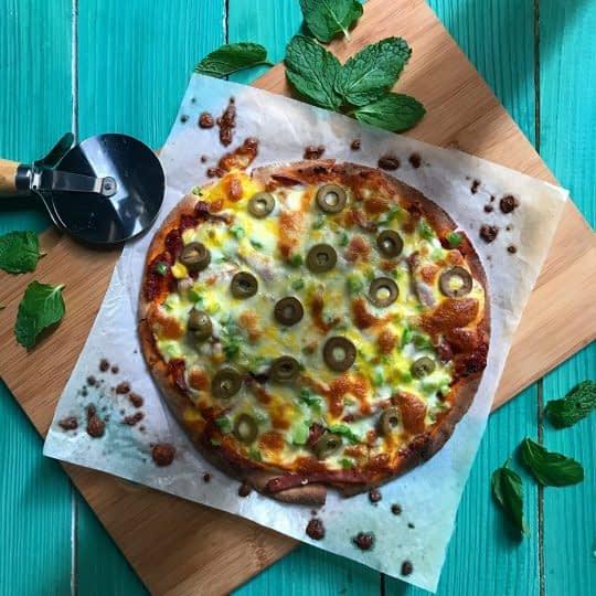 پیتزا ژامبون فوری