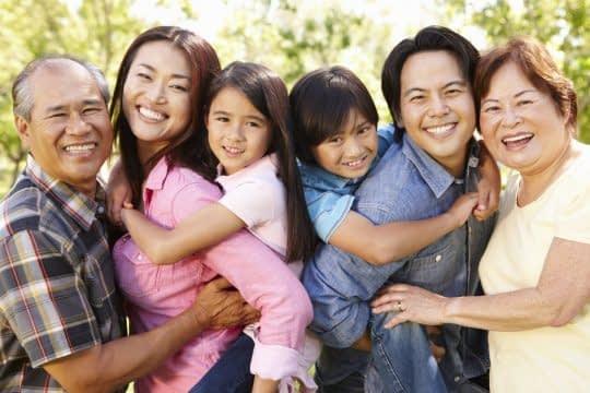 ژست خانواده زیبا و گرما بخش