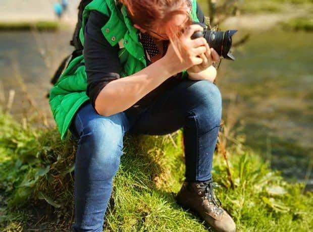 ژست عکاسی عکاس طبیعت