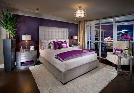 کاربرد رنگ بنفش در اتاق خواب