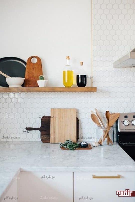 کاشی های شش ضلعی زیبا برای آشپزخانه های مدرن