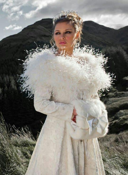 کت خز دار زمستونی برای عروس