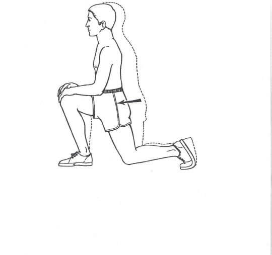 کشش عضلات مفصل ران