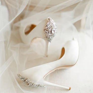 کفش شیک و پاشنه بلند عروس