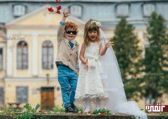 کوچولو های با مزه در عکس های عروسی
