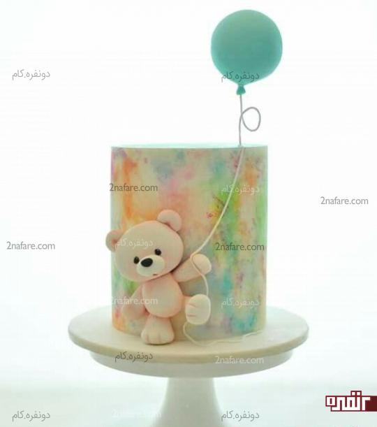 کیک تولد پسرونه با تزیین عروسکی