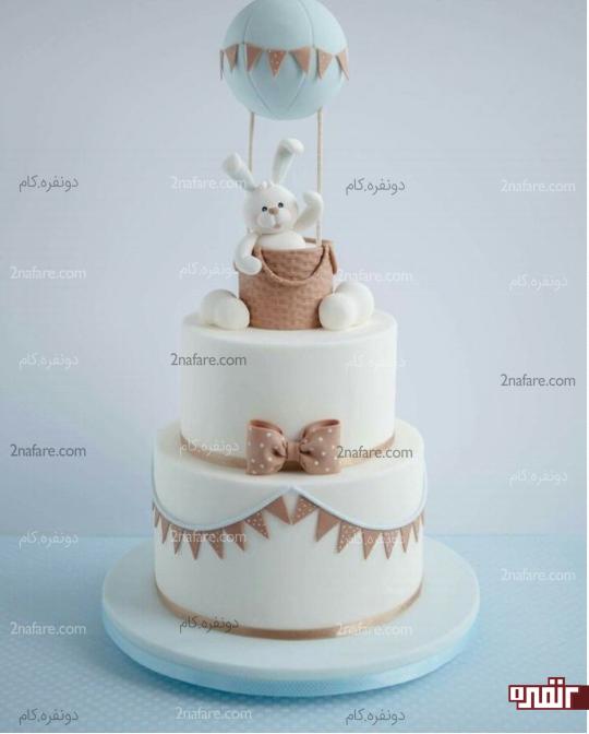 کیک تولد پسرونه با رنگ و طرح زیبا