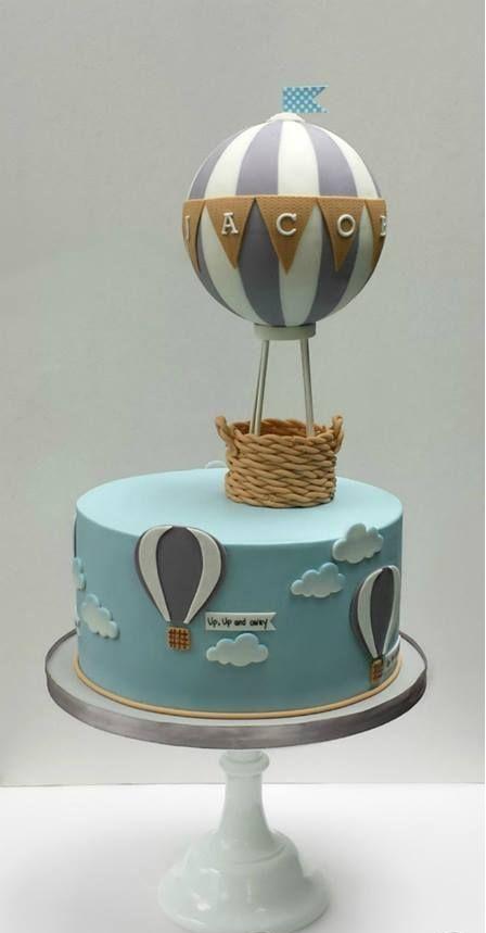 کیک تولد پسرونه طرح بالن