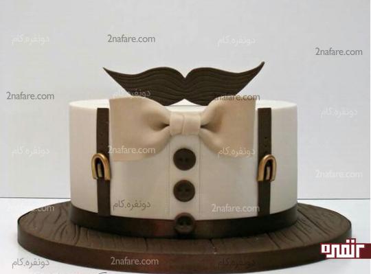 کیک پسرونه شیک و زیبا