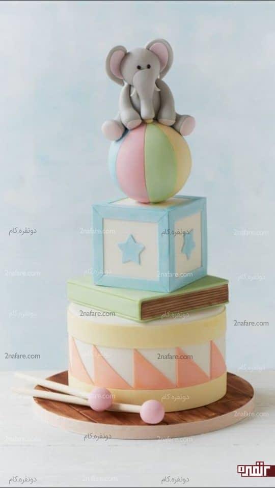 کیک پسرونه عروسکی
