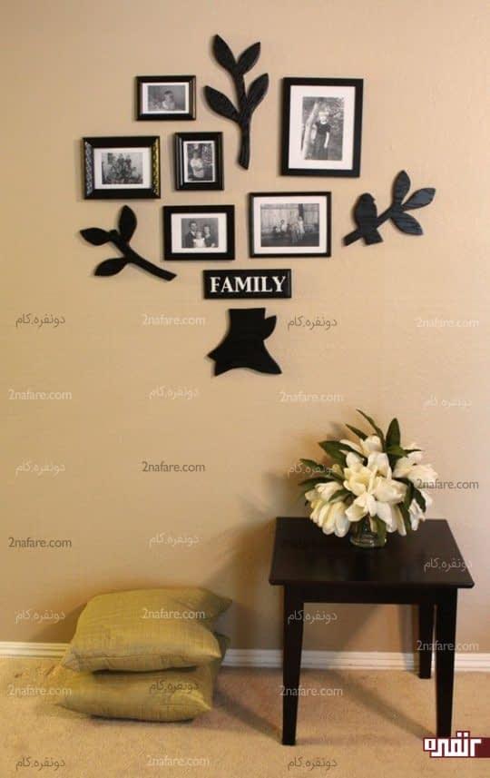 گالری دیواری جذاب با طرح درخت