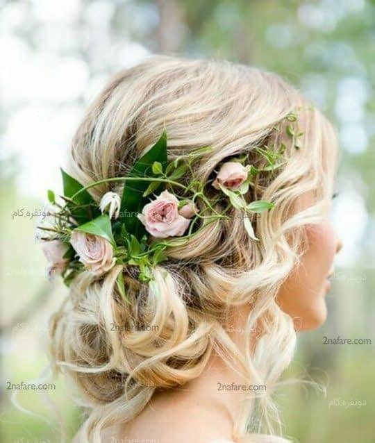 گل سر طبیعی برای شینیون