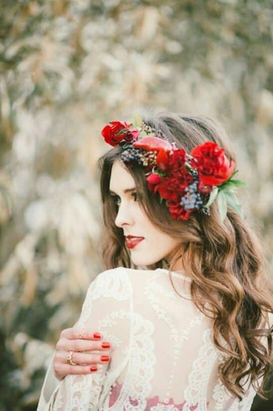 گل سر طبیعی یک طرف سر
