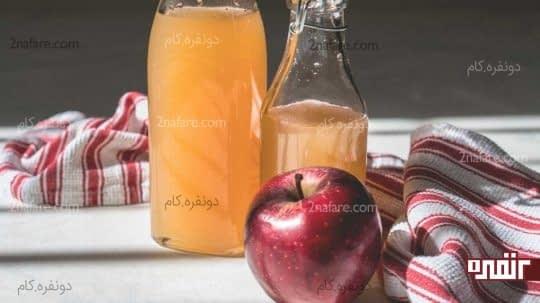 سرکه سیب درمان خانگی مسمومیت غذایی
