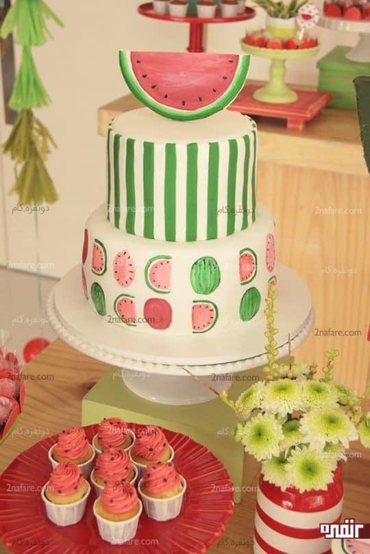 مدل کیک دو طبقه مناسب برای تولد و جشن شب یلدا