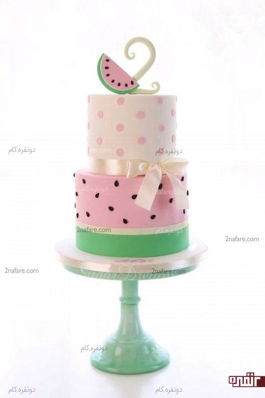 مدل کیک تولد خیلی زیبا و خوش رنگ مناسب با شب یلدا