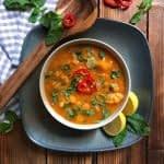 طرز تهیه سوپ جو و گل کلم مرحله به مرحله