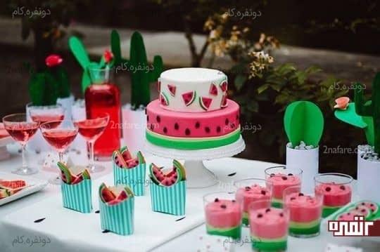 ایده هایی برای تزیین کیک ِ شب یلدا