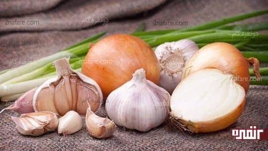 سیر و پیاز موادی مناسب برای کاهش قند خون