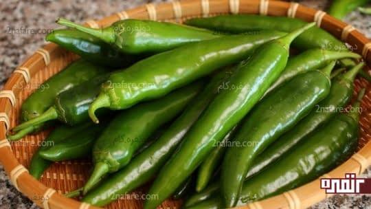 فلفل سبز درمان التهاب آرتریت