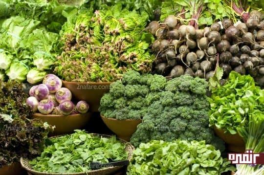 سبزیجات برگ سبز موادی مناسب برای کاهش قند خون
