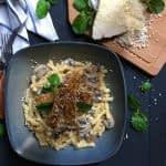 طرز تهیه پاستا با سس قارچ و مرغ