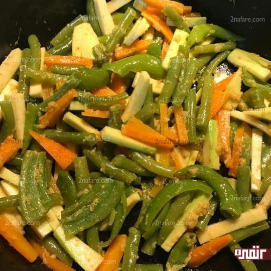 آماده شدن سبزیجات