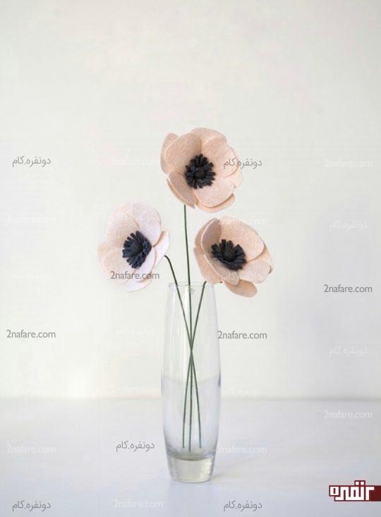 آموزش درست کردن گلهای شقایق با نمد