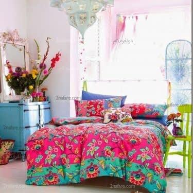 اتاق خوابی متفاوت و زیبا به سبک کولی وار