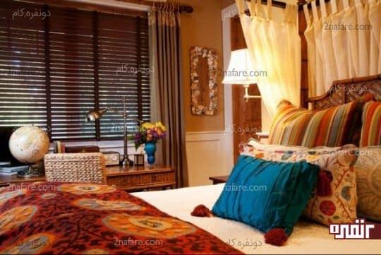 اتاق خواب زیبا و متفاوت به سبک کولی وار