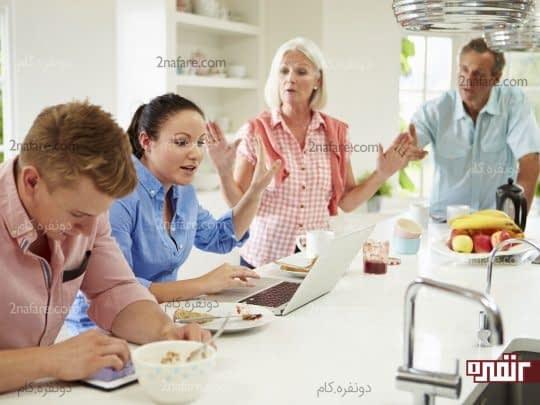 ارتباط دختر و پسر با خانواده ی همسر چطور است؟